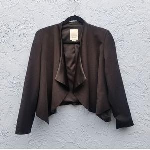 Anthropologie Elevenses Black Open Front Blazer